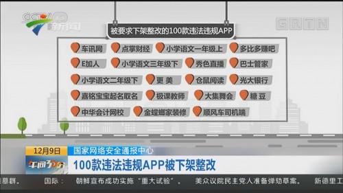国家网络安全通报中心:100款违法违规APP被下架整改
