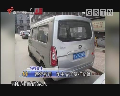 违停被罚 车主父子暴打交警