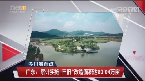 """广东:累计实施""""三旧""""改造面积达80.04万亩"""