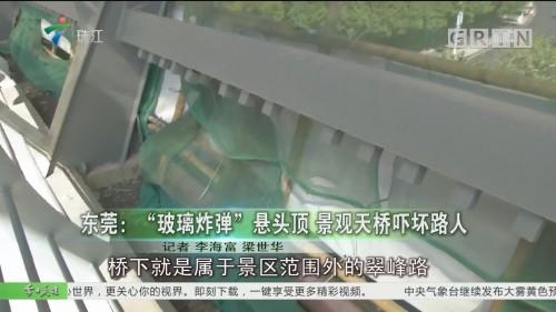 """东莞:""""玻璃炸弹""""悬头顶 景观天桥吓坏路人"""