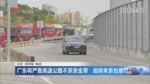 广东将严查高速公路不系安全带 后排未系也要罚