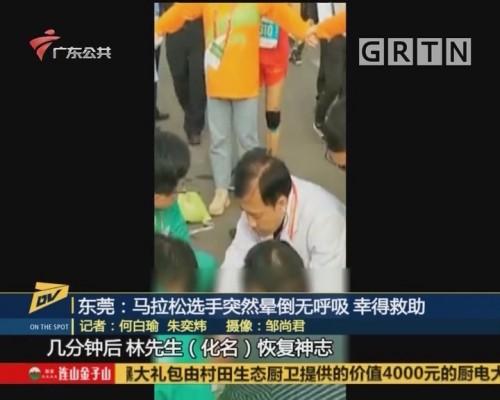 (DV现场)东莞:马拉松选手突然晕倒无呼吸 幸得救助