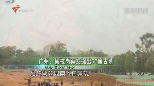 广州:横枝岗再发掘出57座古墓