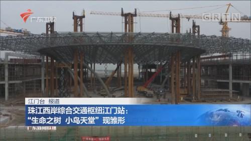 """珠江西岸综合交通枢纽江门站:""""生命之树 小鸟天堂""""现雏形"""