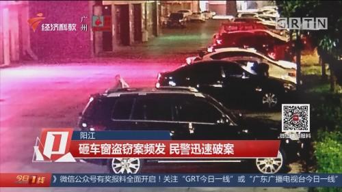 阳江:砸车窗盗窃案频发 民警迅速破案