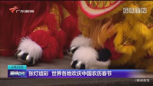 张灯结彩 世界各地欢庆中国农历春节