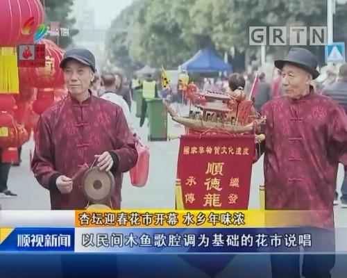 杏坛迎春花市开幕 水乡年味浓