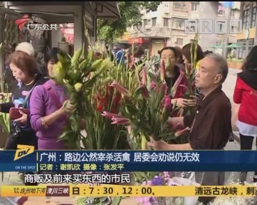 广州:路边公然宰杀活禽 居委会劝说仍无效