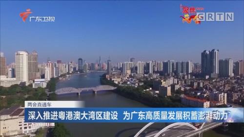 深入推进粤港澳大湾区建设 为广东高质量发展积蓄澎湃动力