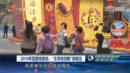 """2019年百家姓排名:""""王李张刘陈""""排前五"""