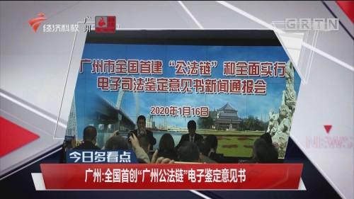 """广州:全国首创""""广州公法链""""电子鉴定意见书"""