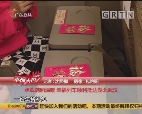(DV现场)幸福大巴:承載满厢温暖 幸福列车顺利抵达湖北武汉