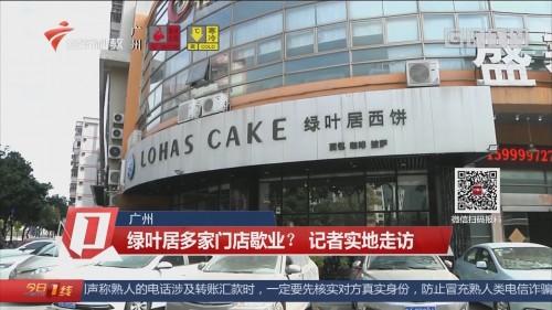 广州:绿叶居多家门店歇业? 记者实地走访