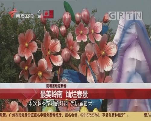 南粤各地迎新春 最美岭南 灿烂春景