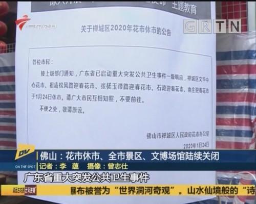 (DV现场)佛山:花市休市、全市景区、文博场馆陆续关闭