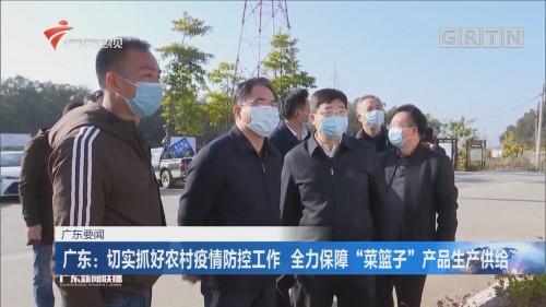 """广东:切实抓好农村疫情防控工作 全力保障""""菜篮子""""产品生产供给"""