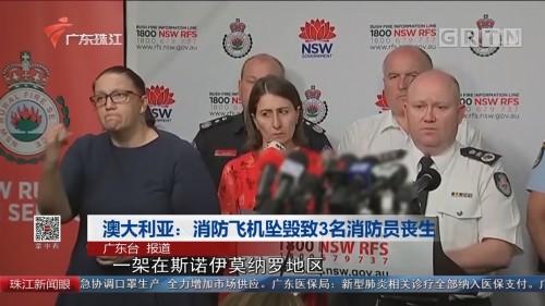 澳大利亚:消防飞机坠毁致3名消防员丧生