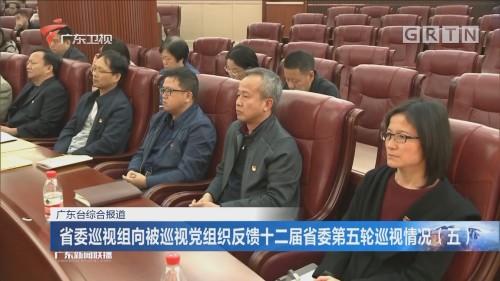 省委巡视组向被巡视党组织反馈十二届省委第五轮巡视情况(五)