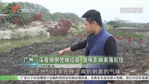 广州:深夜倾倒焚烧垃圾 臭味影响南海街坊