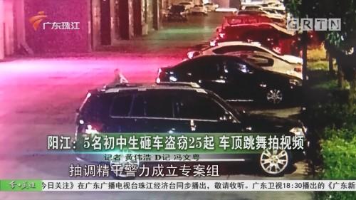 阳江:5名初中生砸车盗窃25起 车顶跳舞拍视频