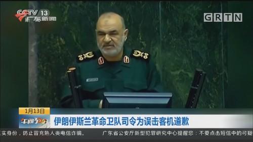 伊朗伊斯兰革命卫队司令为误击客机道歉