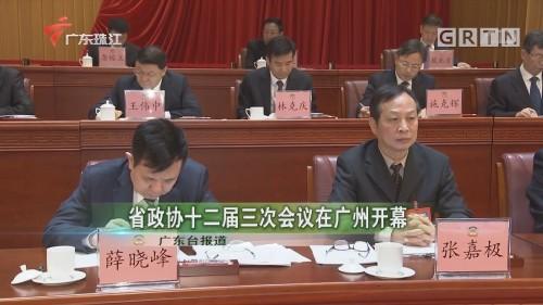 省政协十二届三次会议在广州开幕
