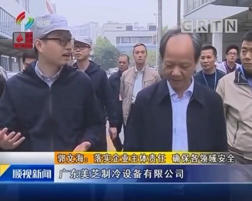 郭文海:落实企业主体责任 确保各领域安全