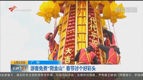 """广州:游客免费""""爬金山"""" 春节讨个好彩头"""