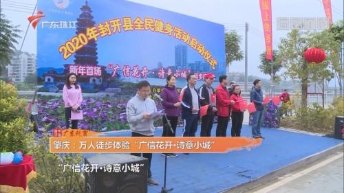 """肇庆:万人徒步体验""""广信花开·诗意小城"""""""