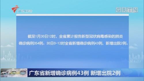 广东省新增确诊病例43例 新增出院2例