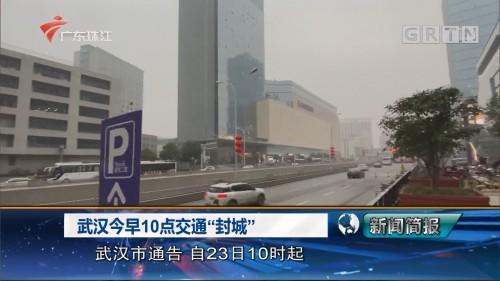 """武汉今早10点交通""""封城"""""""