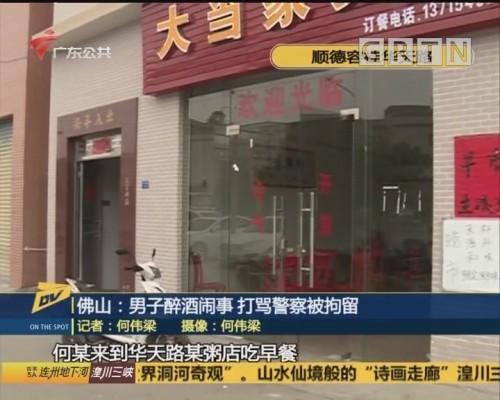 (DV现场)佛山:男子醉酒闹事 打骂警察被拘留