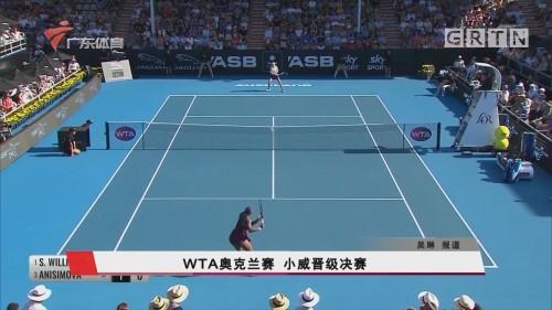 WTA奥克兰赛 小威晋级决赛