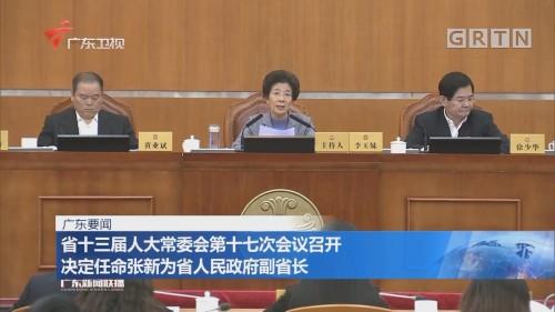 省十三届人大常委会第十七次会议召开 决定任命张新为省人民政府副省长