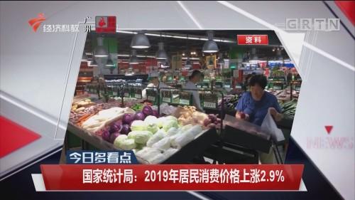 国家统计局:2019年居民消费价格上涨2.9%