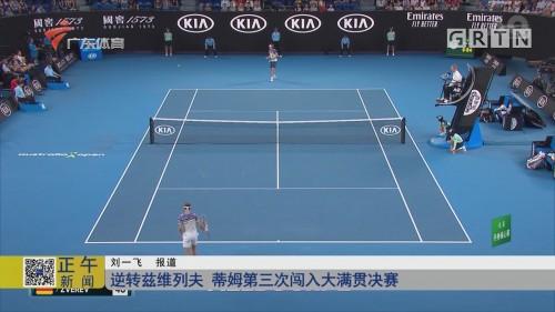 逆转兹维列夫 蒂姆第三次闯入大满贯决赛