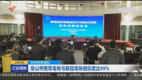 华农科研团队:穿山甲携带毒株与新冠毒株相似度达99%