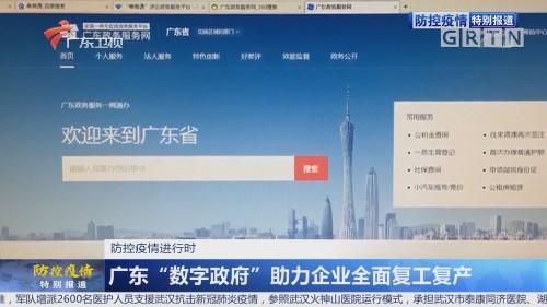 """防控疫情进行时 广东""""数字政府""""助力企业全面复工复产"""