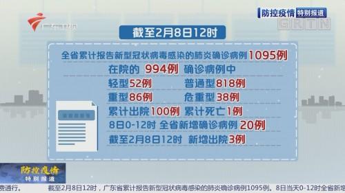 全省新增确诊病例20例 累计1095例