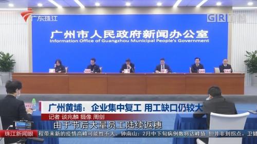 广州黄埔:企业集中复工 用工缺口仍较大