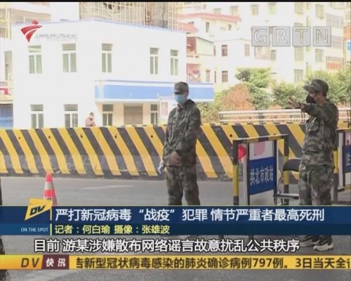"(DV现场)严打新冠病毒""战疫""犯罪 情节严重者最高死刑"