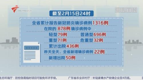 广东新增确诊病例22例 累计1316例
