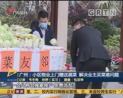 (DV现场)广州:小区物业上门赠送蔬菜 解决业主买菜难问题