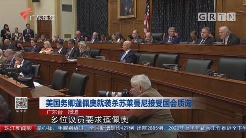 美国务卿蓬佩奥就袭杀苏莱曼尼接受国会质询
