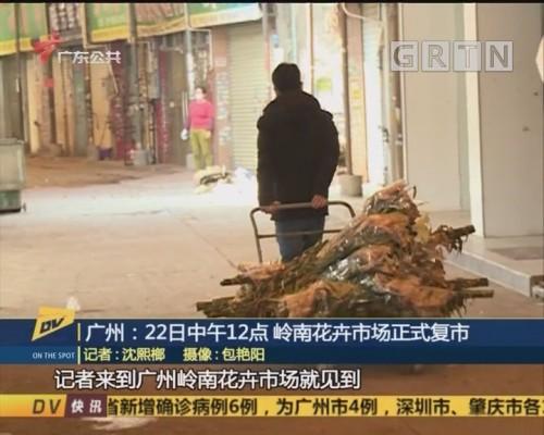 (DV现场)广州:22日中午12点 岭南花卉市场正式复市