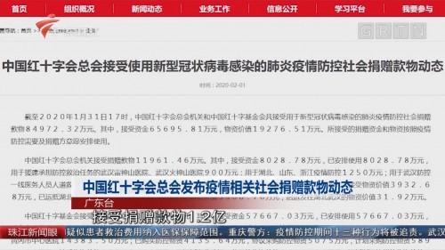 中国红十字会总会发布疫情相关社会捐赠款物动态