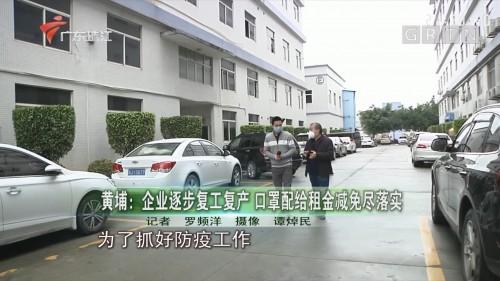 黄埔:企业逐步复工复产 口罩配给租金减免尽落实