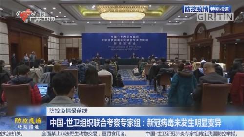 防控疫情最前线 中国—世卫组织联合考察专家组:新冠病毒未发生明显变异