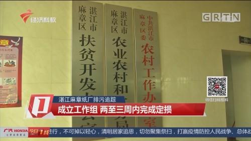 湛江麻章纸厂排污追踪:成立工作组 两至三周内完成定损