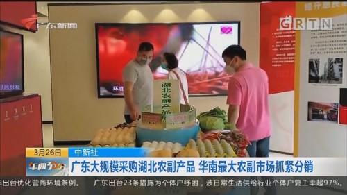 中新社:广东大规模采购湖北农副产品 华南最大农副市场抓紧分销